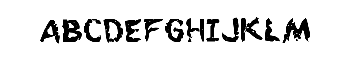 Flesh-Eating Comic Bold Font UPPERCASE