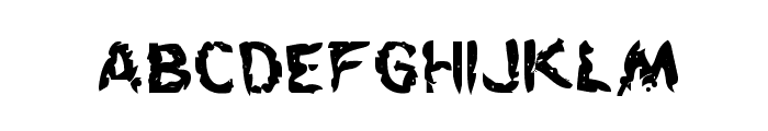 Flesh-Eating Comic Bold Font LOWERCASE