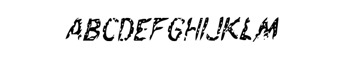 Flesh-Eating Comic Condensed Italic Font LOWERCASE