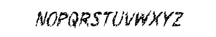 Flesh-Eating Comic Condensed Italic Font LOWERCASE