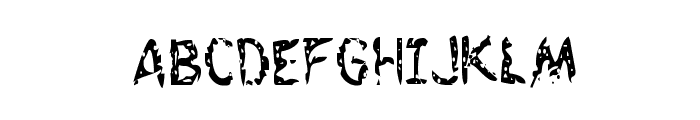 Flesh-Eating Comic Condensed Font UPPERCASE
