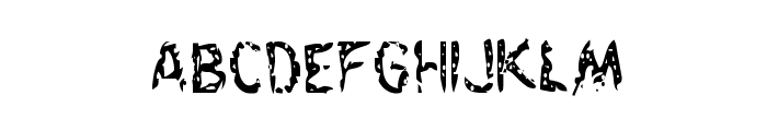Flesh-Eating Comic Condensed Font LOWERCASE