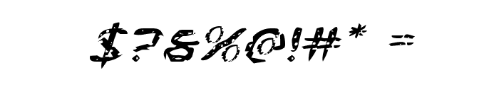 Flesh-Eating Comic Expanded Italic Font OTHER CHARS