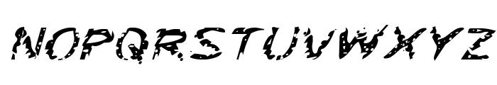Flesh-Eating Comic Expanded Italic Font UPPERCASE