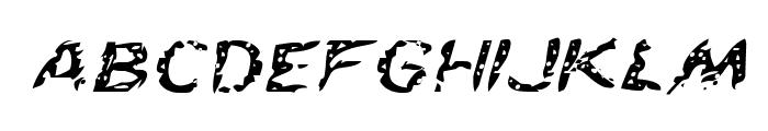 Flesh-Eating Comic Expanded Italic Font LOWERCASE