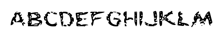 Flesh-Eating Comic Expanded Font LOWERCASE