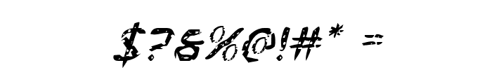 Flesh-Eating Comic Italic Font OTHER CHARS