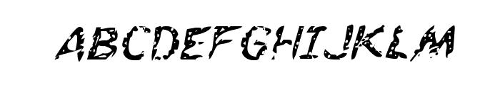 Flesh-Eating Comic Italic Font UPPERCASE