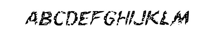Flesh-Eating Comic Italic Font LOWERCASE