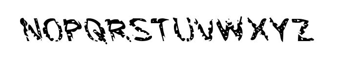Flesh-Eating Comic Leftalic Font UPPERCASE