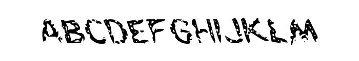 Flesh-Eating Comic Leftalic Font LOWERCASE