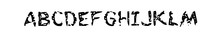 Flesh-Eating Comic Regular Font UPPERCASE