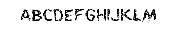 Flesh-Eating Comic Regular Font LOWERCASE