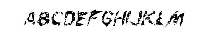 Flesh-Eating Comic Whacked Italic Font LOWERCASE