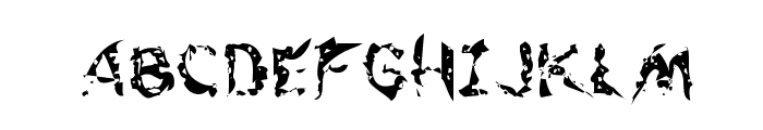 Flesh-Eating Comic Whacked Regular Font UPPERCASE