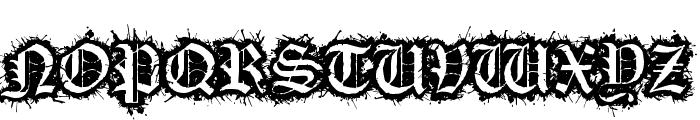 Flesh Wound Font UPPERCASE