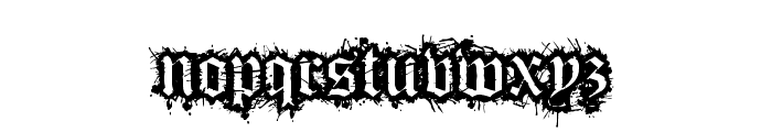 Flesh Wound Font LOWERCASE