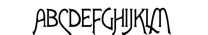 Fletcher-Gothic Font UPPERCASE