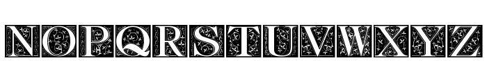 FleurCornerCaps Font UPPERCASE