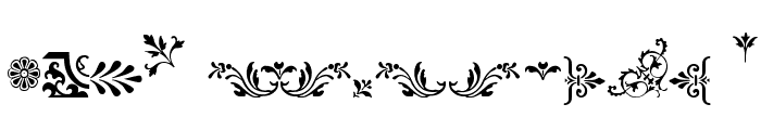 Fleurons Font UPPERCASE