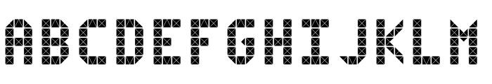 Flicker Font UPPERCASE