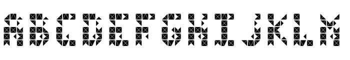 FlickerDamaged Font LOWERCASE