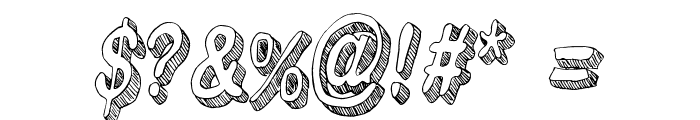 Flim-Flam Font OTHER CHARS