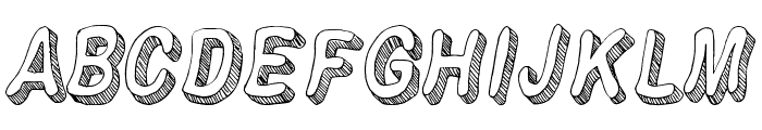 Flim-Flam Font UPPERCASE