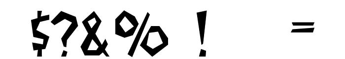 Flintstone Font OTHER CHARS