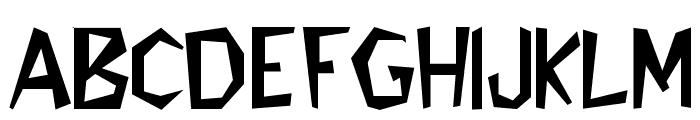 Flintstone Font LOWERCASE