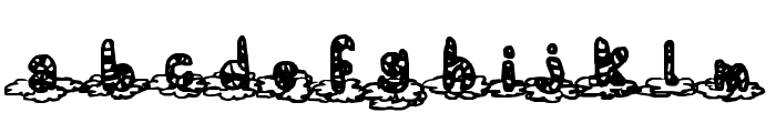 Floating in the sky Font LOWERCASE