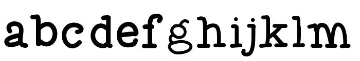 Flocked3 Font LOWERCASE