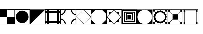 Floor Tile Patterns JL Font LOWERCASE