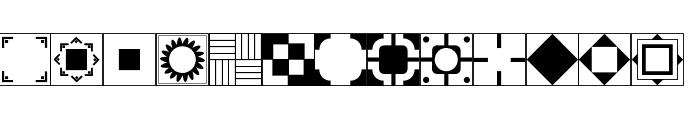 Floor Tile Patterns, Pt. 2 JL Font UPPERCASE