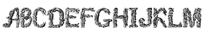 Florabet Font UPPERCASE