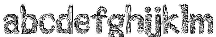 Florabet Font LOWERCASE