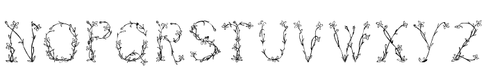 Florabetic Font UPPERCASE
