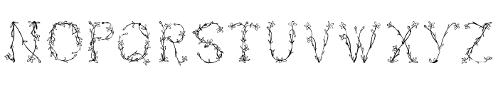 Florabetic Font LOWERCASE