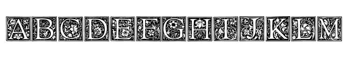 Floral Capitals Regular Font UPPERCASE
