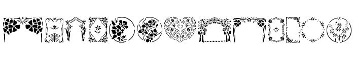 Floral Stencil Design Font UPPERCASE
