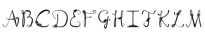 Floral Suave Regular Font UPPERCASE