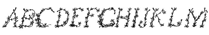 FloralOne Font UPPERCASE