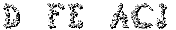 FloralTwo Font OTHER CHARS