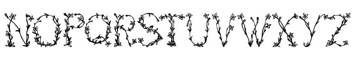 FloralTwo Font UPPERCASE