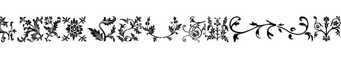 Floralia Font UPPERCASE