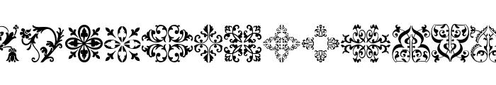 Floralia Font LOWERCASE