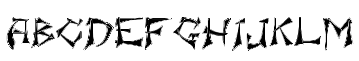 Floralis Font UPPERCASE