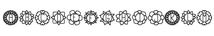 Floreada St Font LOWERCASE