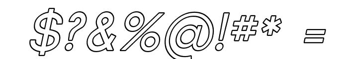 Florencesans Outline Italic Font OTHER CHARS