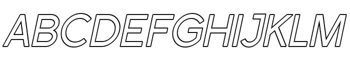 Florencesans Outline Italic Font UPPERCASE